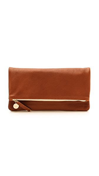 Clare V. Fold Over Clutch In British Tan