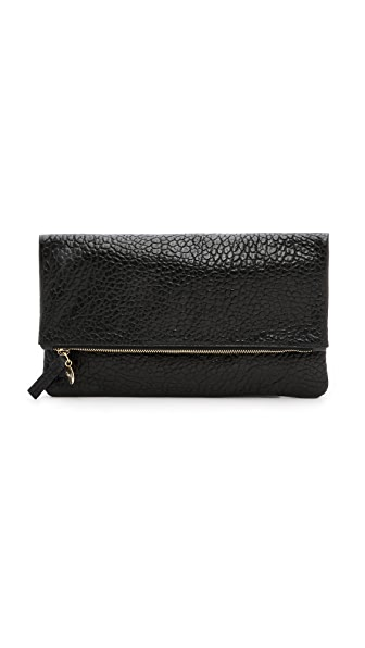 Clare V. Supreme Fold Over Clutch - Black