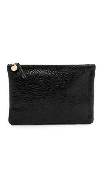Clare V. Supreme Flat Clutch - Black