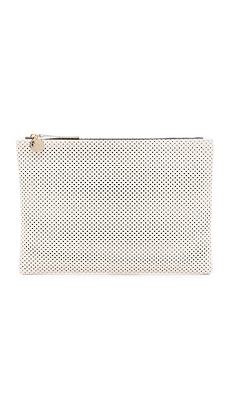 Clare V. Perforated Flat Clutch