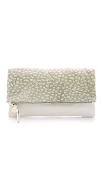 Clare V. Haircalf Supreme Fold Over Clutch