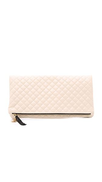 Clare V. Quilted Supreme Fold Over Clutch