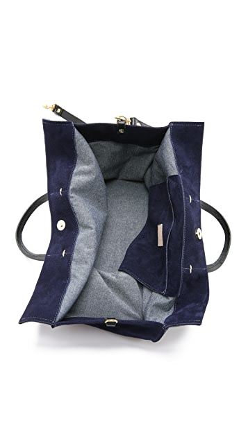 Clare V. Suede Simple Tote