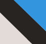 White/Black/Blue Splash