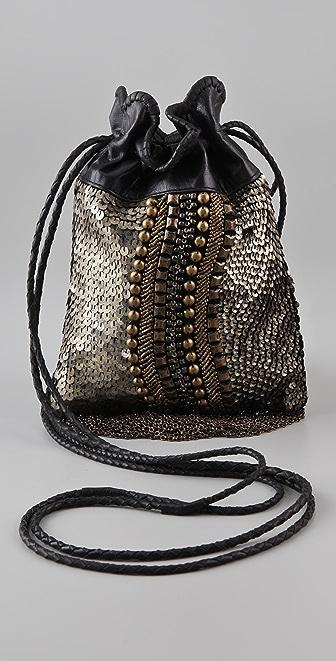 Cleobella Chenoa Mini Beaded Drawstring Bag