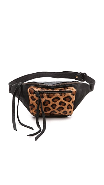 Cleobella Rebel Belt Bag with Haircalf Leopard Pocket