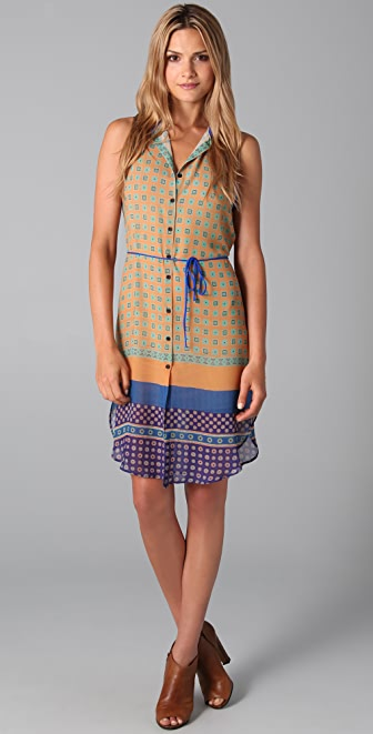Clover Canyon Sleeveless Shirtdress with Belt