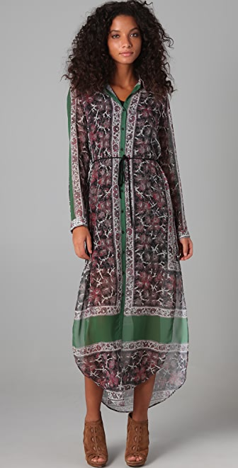 Clover Canyon Long Sleeve Maxi Shirtdress