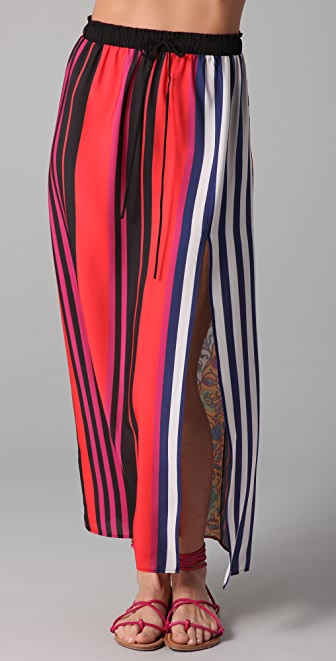 Clover Canyon Bali Stripe Printed Skirt