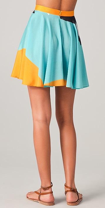 Clover Canyon X Ray Flower Print Skirt