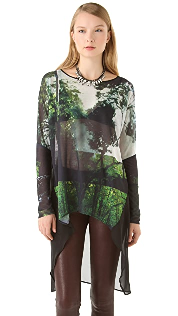 Clover Canyon Amazon Print Jersey Tunic