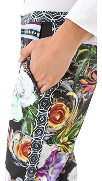 Clover Canyon Baroque Rose Scarf Pants
