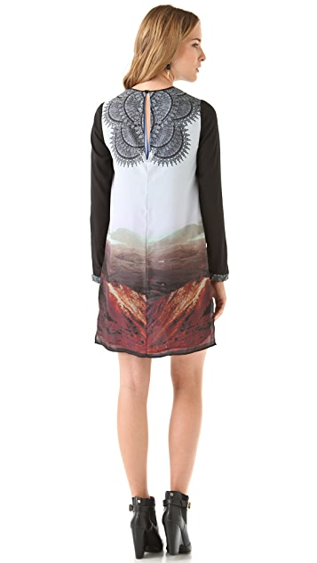 Clover Canyon Chantilly Landscape Shift Dress