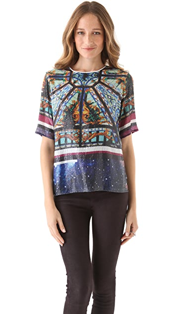 Clover Canyon Galaxy Glass Sequin Tee