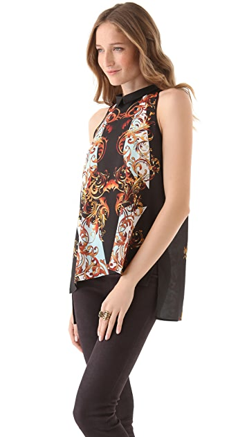Clover Canyon Geo Filigree Top