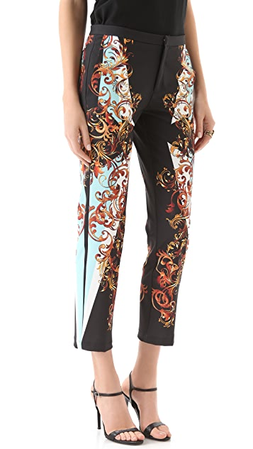 Clover Canyon Geo Filigree Cropped Pants