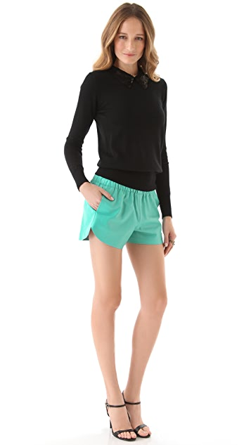 Clover Canyon Leather Shorts