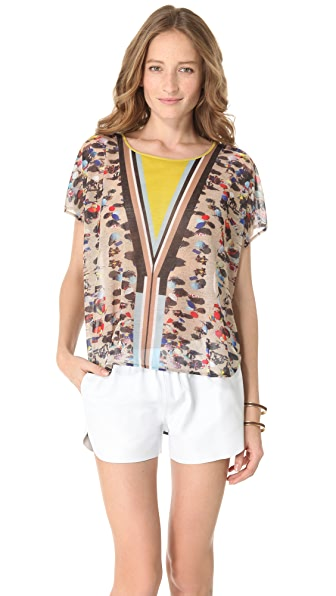 Clover Canyon Beach Print Top