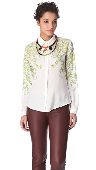 Clover Canyon Neon Filigree Blouse