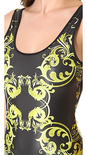 Clover Canyon Neon Filigree Bathing Suit