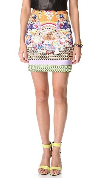 Clover Canyon Picnic Scarf Neoprene Skirt