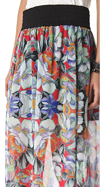 Clover Canyon Flower Tracers Maxi Skirt