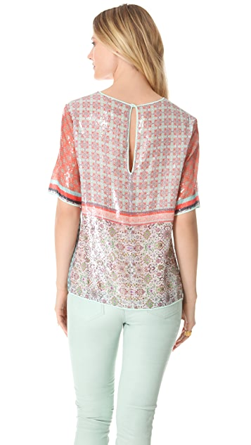 Clover Canyon Old Cow Hand Sequin Top