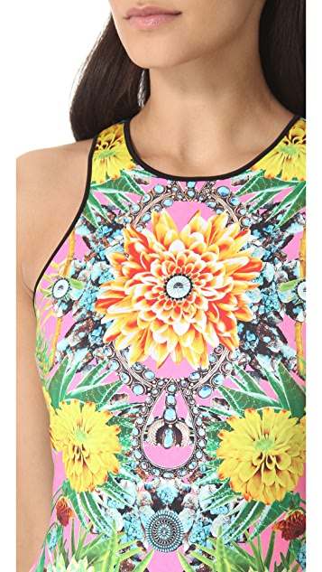 Clover Canyon Turquoise Valley Neoprene Dress