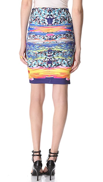 Clover Canyon Turquoise Valley Pencil Skirt