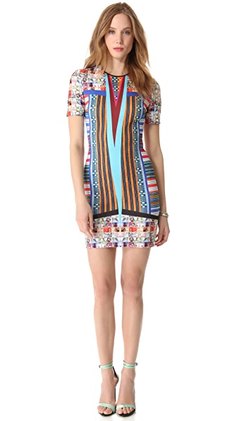 Clover Canyon Woven Pesos Neoprene Dress