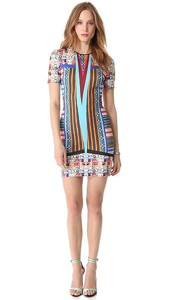 Clover Canyon Woven Pesos Neoprene Dress