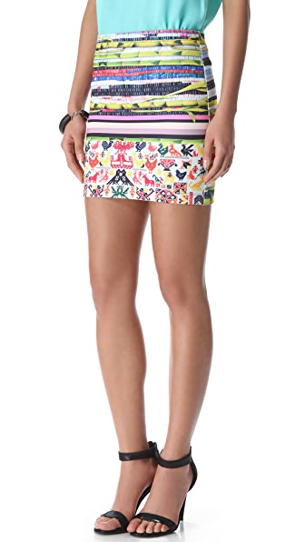 Clover Canyon Surf Shack Neoprene Mini Skirt