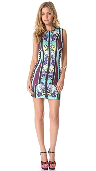 Clover Canyon Graphic Flowers Sleeveless Dress