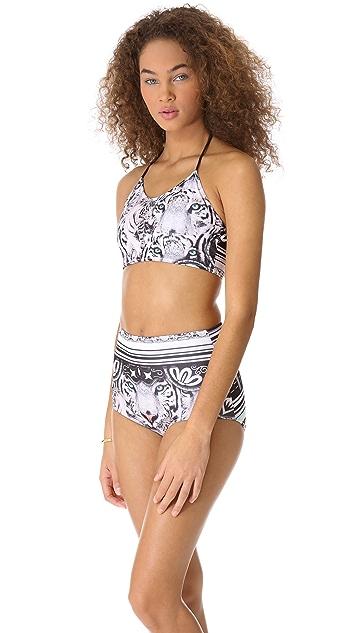 Clover Canyon Eye of the Tiger Bikini Top