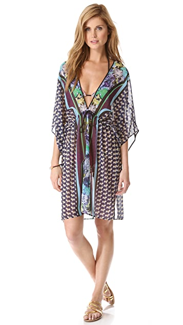 Clover Canyon Graphic Flower Cover Up