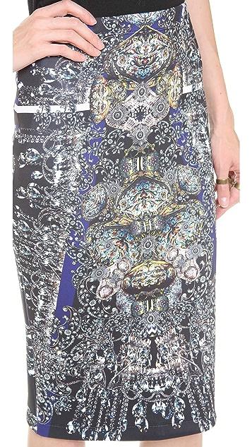 Clover Canyon Russian Enamel Pencil Skirt