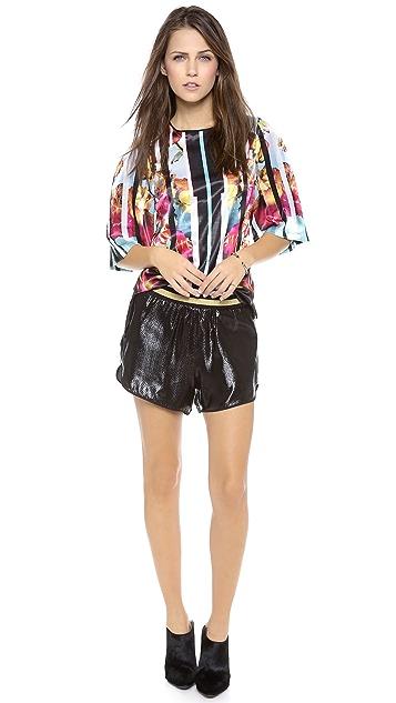 Clover Canyon Metallic Shorts