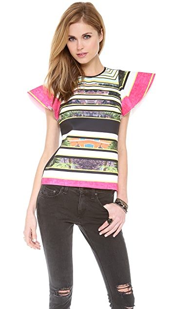Clover Canyon Cuban Step Neoprene Top