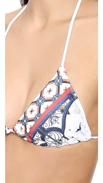 Clover Canyon Cigar Granny Bikini Top