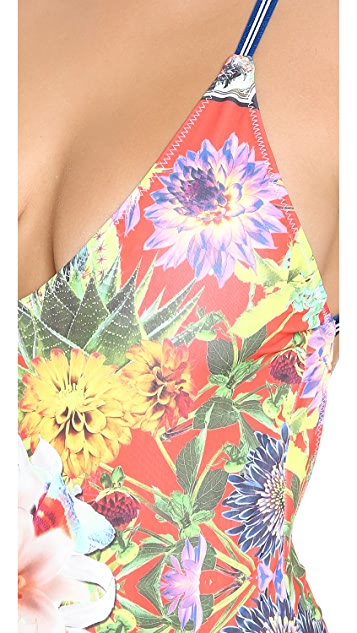 Clover Canyon Cuban Cigars One Piece Swimsuit