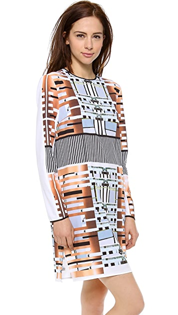 Clover Canyon Woven Metal Long Sleeve Dress