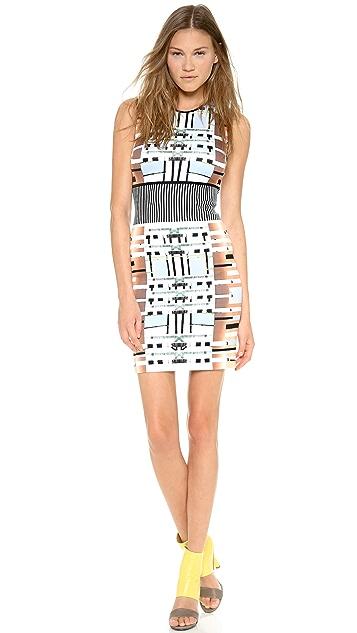 Clover Canyon Woven Metal Sleeveless Dress