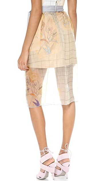Clover Canyon Botanical Graph Tie Waist Skirt