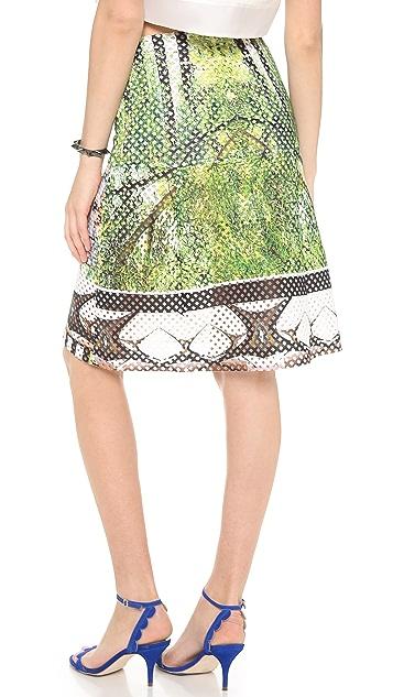Clover Canyon Huntington Gardens Perforated Skirt