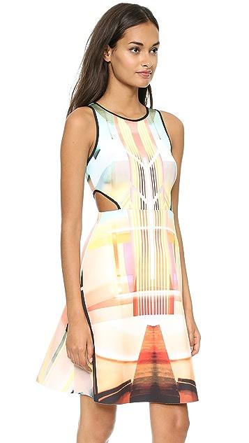 Clover Canyon Fluorescent Lights Cutout Dress