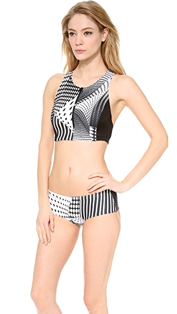 Clover Canyon Torqued Walls Bikini Top