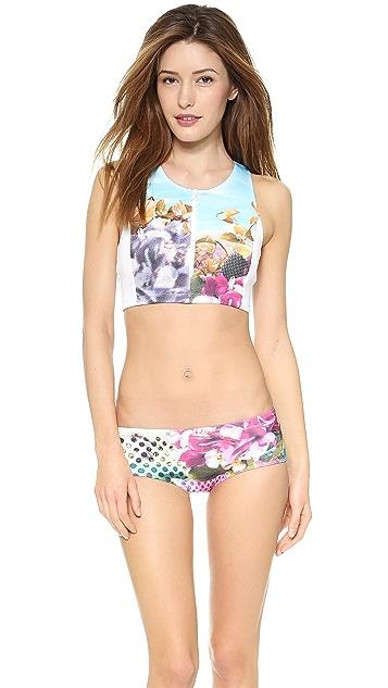 Clover Canyon Pool Flower Bikini Top