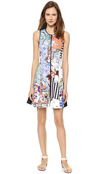 Clover Canyon Floral Silhouettes Zip Dress