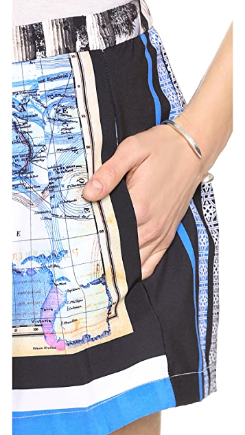 Clover Canyon Ancient World Map Shorts