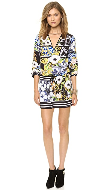 Clover Canyon Greek Tiles Long Sleeve Dress